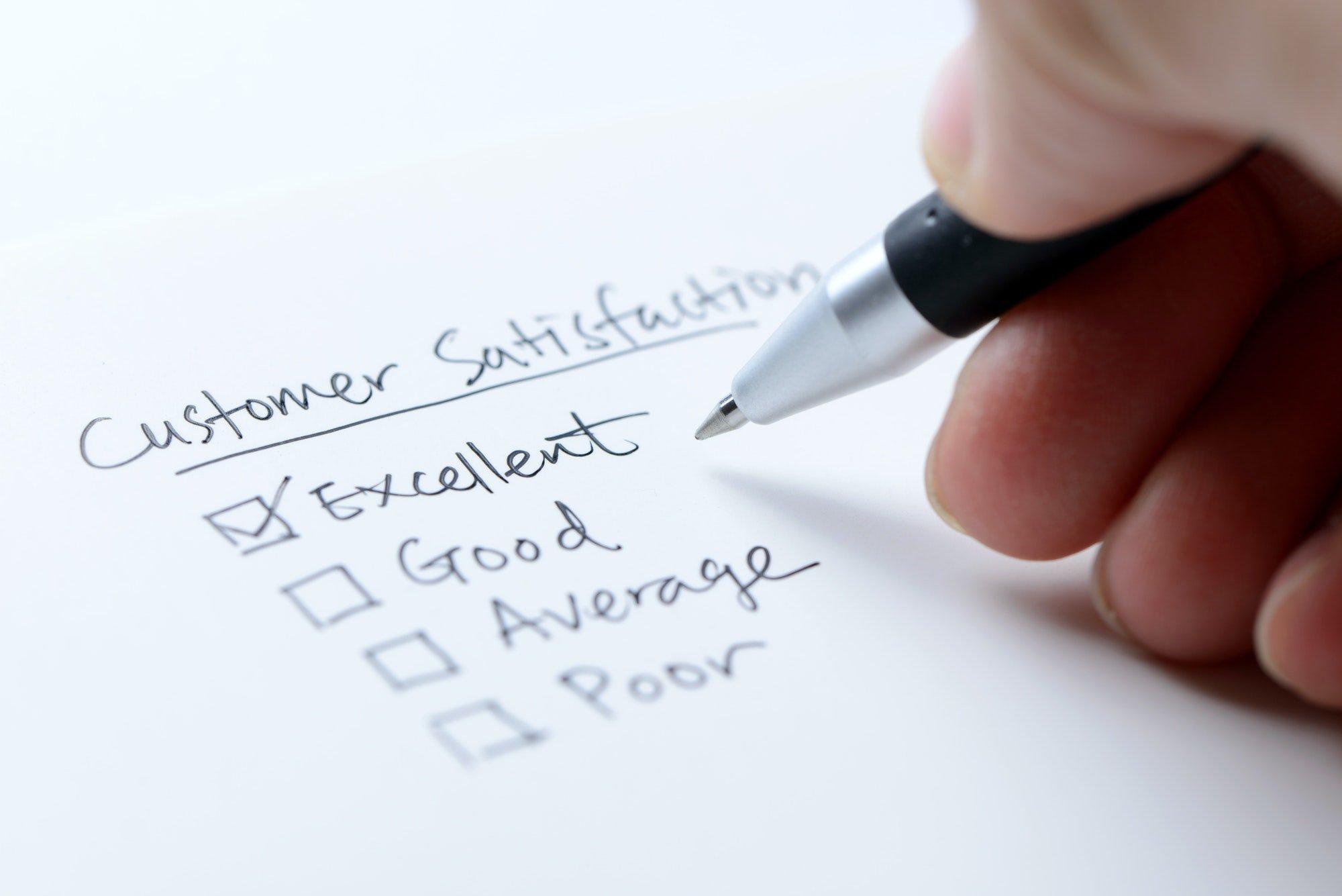Excellent customer satisfaction feedback